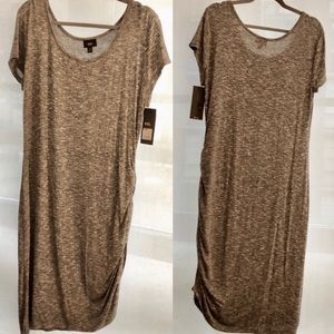 Mossimo Supply Co. Dresses - NWT Mossimo Heather Grey Knit Ruched Dress